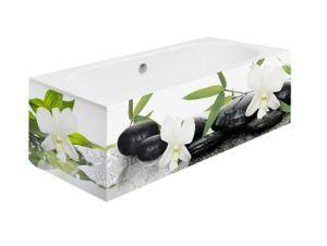 Badewannenverkleidung Wandpaneele Badewannenschürze Badezimmer Wanddeko Orchideen 300cm Motiv: SPA