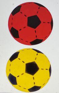 Softball 2er Set, Farben Gelb & Rot, 20 cm - Schaumstoffball