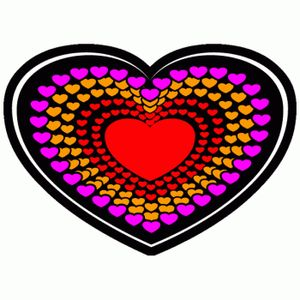 EL-Equalizer-Panel Herz Farbe - mulitcolor