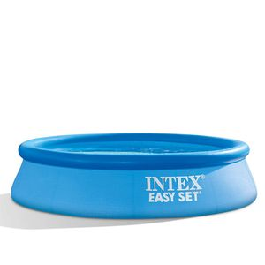 INTEX 28106NP EasySet Quick-Up-Pool Swimmingpool Schwimmbecken 244x61cm rund blau