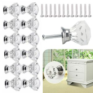 12 Stücke Kristall Glas Möbelknöpfe Möbelgriffe Möbelknauf Tür Schrank Griff Knopf