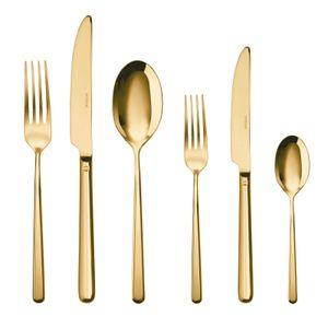 Sambonet Linear Edelstahl/PVD Gold Besteck 36tlg.Vh. S0025-S00017-52713G83