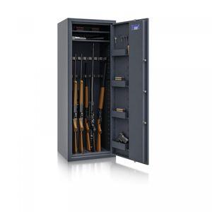 Waffenschrank Luzern WF MAX 1 / 16 WH / 1500x550x450 / 175kg 55631 / ECB-S Klasse 0 / RAL7024 / Schlüssel / DIN R / ohne Trennw.