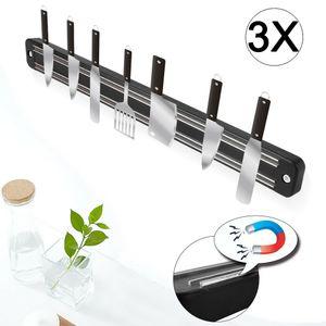 3 x 33cm Magnetleiste Küchen Messerhalter Messer blöcke Magnetleiste Werkzeughalter Edelstahl ,Wandmontage