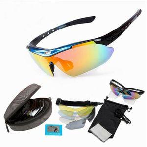 KZKR Fahrradbrille Sonnenbrille Sport Polarisiert Sportbrille Bikebrille e-bike MTB Unisex Blau