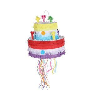Pinata Torte 29x25cm Kindergeburtstag Mottoparty Partydeko Piñata Partyspiel