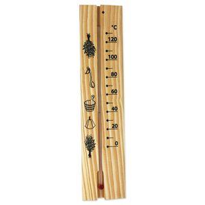 SudoreWell® Sauna Thermometer aus schönem Kiefernholz 6 x 25cm by 4living