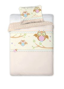 Baby Bettwäsche mit Eulen 100x135cm 40x60cm Baumwolle