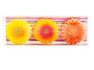 3er Set Schwimmkerzen Blütenform
