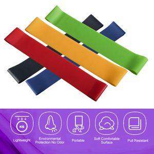 5PCS tragbares Latex-Spannband Fitness Sport Yoga Hochelastizit?t Deep Squat Spannungsband mit glatter Oberfl?che