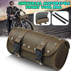 Universal Motorrad ATV Satteltasche Werkzeugrolle Gepäcktasche Vorne Kunstleder