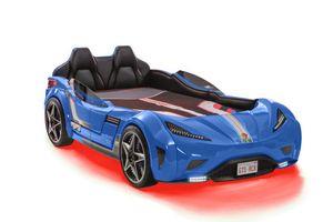 Cilek GTS Autobett 100x190 cm Blau, Matratze:mit