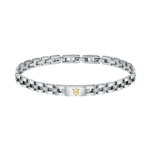 Maserati Herren Armband, JEWELS Kollektion, aus Edelstahl, Gelbgold PVD, Diamanten - JM221ATY04