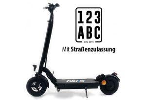 Blu:s Stalker XT950 E-Scooter mit Straßenzulassung ABE (13 Ah / 350 Watt / 50 km / 20 km/h) inkl. 10' Luftreifen und Scheibenbremsen