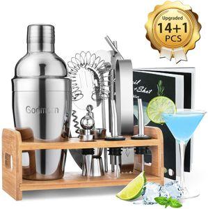 Cocktail Set, Edelstahl Cocktail Shaker Set, 15 Teiliges Barkeeper Set