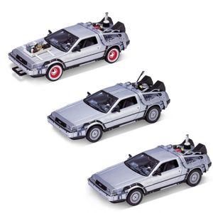 Welly Modellauto 1:24 De Lorean Back to the Future Zurück in die Zukunft Teil 1 -3 Trilogy Pack