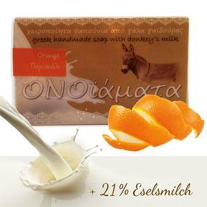 Eselsmilchseife mit Orangenschale und Orangensaft 100 g