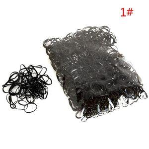 Schwarz 1000 TPU kleine Bar aus Einweg-Gummiband Geflecht Haar und Haargummiband Ring