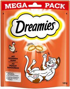 Dreamies Klassiker | Katzensnacks Katzenleckerli Leckerli mit Huhn 180g