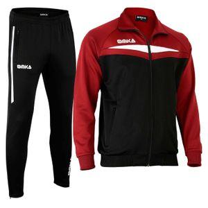 OMKA Trainingsanzug Sportanzug Jogginganzug  Freizeitanzug Weinrot, Größe:XL