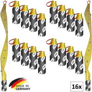 PIC - 16 Stück - Fliegenfänger - umweltfreundlich und giftfrei - Inklusive Reißnagel zum Aufhängen - Fliegenfalle gegen Fliegen, Fruchtfliegen und Obstfliegen Aller Art