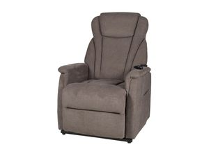 Fernsehsessel Ruhesessel TV-Sessel grau-braun elektrische Aufstehhilfe - TORONTO XXL - Die Möbelfundgrube