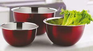 Salatschüssel aus hochwertigem Edelstahl - 3er Set