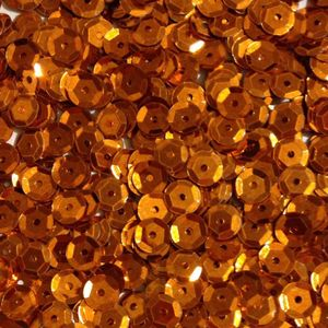 Oblique Unique 1400 Pailletten Konfetti gewölbt orange