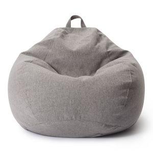 Lumaland Comfort Line XXL Sitzsack - 100x120x50 cm Bodenkissen, Bean Bag Chair - 315 L - EPS Perlen Füllung - Hellgrau