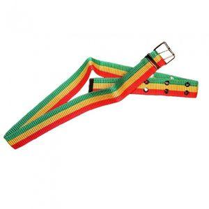 Rubie's gürtel Reggae Unisex grün/gelb/rot Einheitsgröße