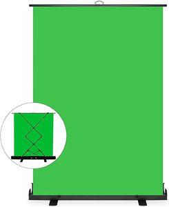 iropro 150x200 cm Professioneller tragbarer grüner Hintergrund, Green Screen , Chromakey-Hintergrund für Fotografie, Video, Live Gaming-Streaming,Virtual Studio