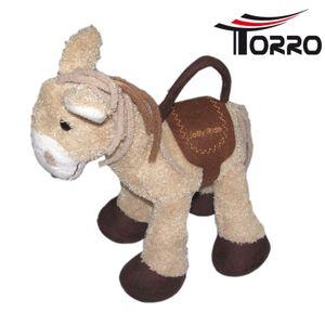 Torro Stoffpferd Plüsch-Pferd Braun mit Griff u. Geheimfach