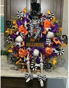 Halloween Kranz Dekoration gruseliges Totenkopf, Haustür Kranz Totenkopf Kranz für draußen drinnen zu Hause halloween party