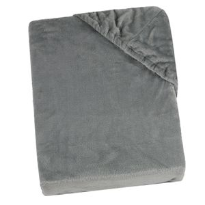 Spannbettlaken Mikrofaser Plüsch, grau, 180x200 - 200x200 cm