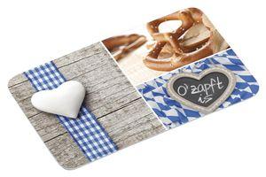 6 Stück Kesper Frühstückbrettchen, Brotzeitbrett, Schneidebrett, Melamin, Bayrisches Motiv: O´Zapft Is, Maße: 235 x 140 x 4 mm