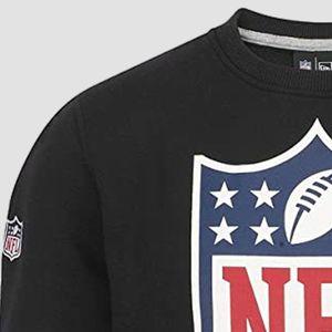 New Era Team Logo Crew Pullover Men - NFL LOGO - Black, Größe:M