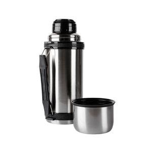 Edelstahl Thermoskanne Thermosflasche Isolierkanne Griff+Gurt Thermosbecher 1 L