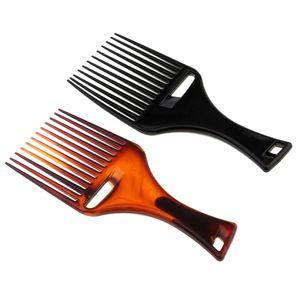2 Stücke Afro kamm Afrokamm Kunststoff Lockenkamm mit Griff für Voluminöses Haar, Dichtes, Lockiges und Langes Haar