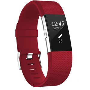 Fitbit Charge 2 Armband Silikon Rot (L)