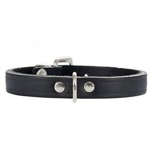 Hunter® Softvollrindleder Halsband Standard schwarz, Halsband:27 (20 - 25 cm Halsumfang. Breite 1.2 cm)