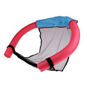 Schwimmnudelstuhl Schwimmsling Stick Mesh Net Sitzbettgröße M Rot
