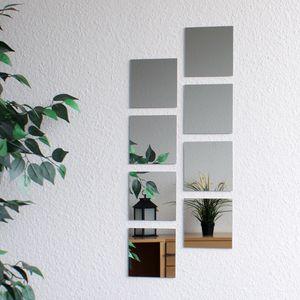 Wohaga 8 Stk Spiegelfliesen quadratisch je 15x15cm