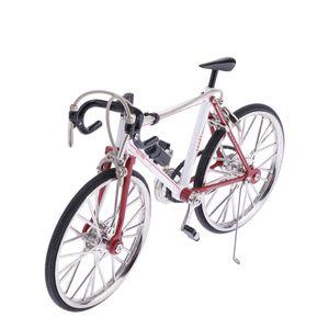 Maßstab 1/10 Simulierte Legierung Rennrad Fahrrad Modell Wohnkultur Rot Weiß B Rot + Weiß wie beschrieben