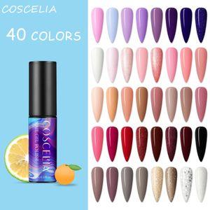 COSCELIA 40 Stück UV Farbgel Set UV Nagellack UV Gel Nagelgel Set Gel nägel Starterser Nail Gel Polish für Nagel-Design Nagel Kunst