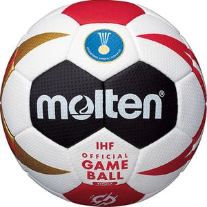 MOLTEN Handball WM 2019 Replika Ball weiß schwarz rot gold, Größe:2