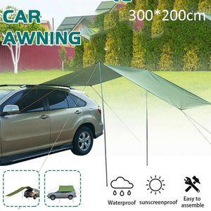 Wohnwagen Sonnensegel - Mit robustem Gestänge - Das Sonnendach schützt bei Sonne und Regen für Camping, Reisen, Hängematten Zelt Tarp 300*200cm