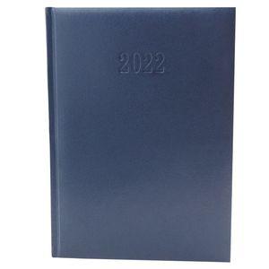 Chefplaner 2022 K Office - ca. A4  Lederoptik Dunkelblau Buchkalender Termin Planer Timer