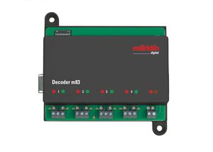 Märklin H0 60832 Decoder m83 Empfänger zum Schalten von Weichen, Signalen und Entkupplungsgleisen
