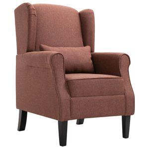 【Neu】Sessel Sessel Braun Stoff Gesamtgröße:68 x 73 x 101 cm BEST SELLER-Möbel-Stühle-Sessel im Landhaus-Stil