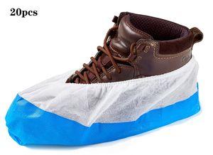 Überschuhe mit Antirutschsohle extra stark   Onesize   Reißfest   Durchriebsicher   Einweg   Indoor   Outdoor   20 Schuhüberzieher   Überziehschuhe  